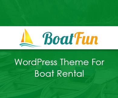 BoatFun - Boat Rental & Charter Service WordPress Theme