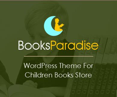 BooksParadise - Children Books Store WordPress Theme
