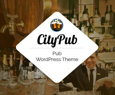CityPub - Pub, Lounge & Restaurant WordPress Theme
