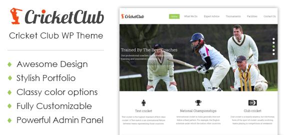 CricketClub – Cricket Club & Academy WordPress Theme