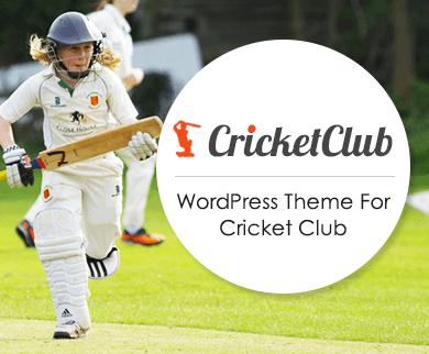 CricketClub - Cricket Club & Academy WordPress Theme