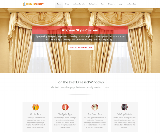curtain country wp theme