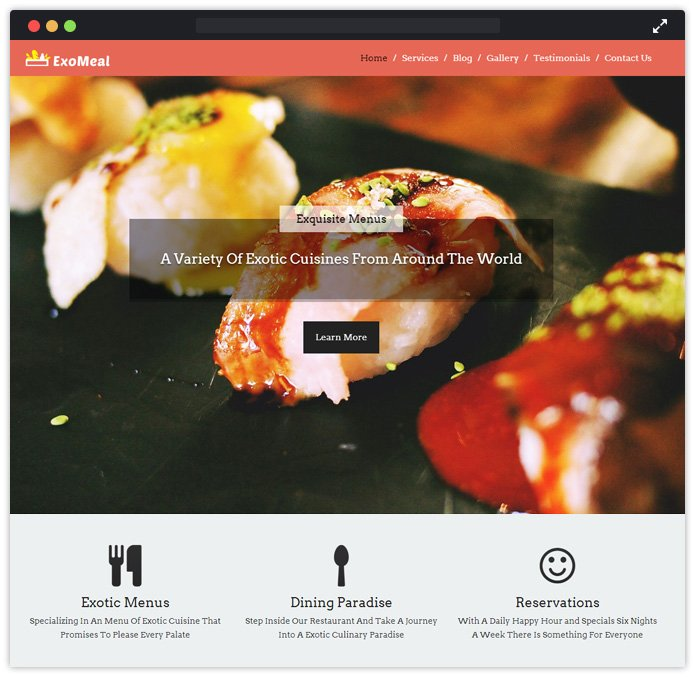 Exo Meal WordPress Theme