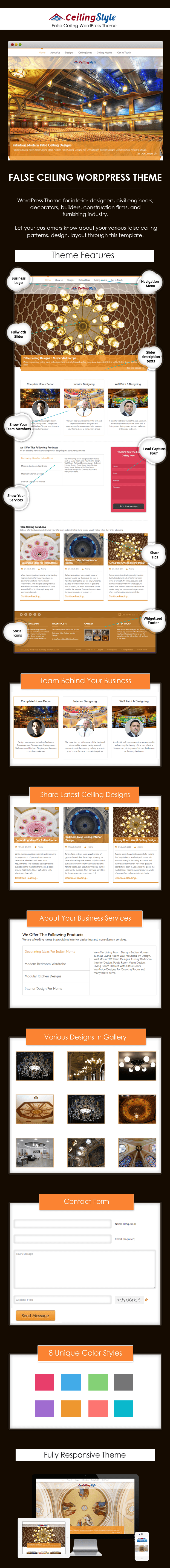 False Ceiling WordPress Theme