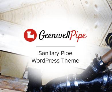 GeenwellPipe - Sanitary Pipe Seller & Distributor WordPress Theme