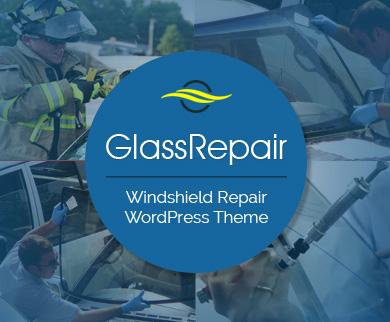 GlassRepair - Windshield Repair WordPress Theme