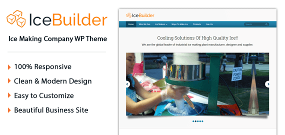 Ice Making Company WordPress Theme