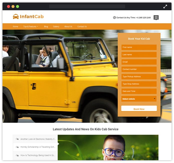 Infant Cab WordPress Theme