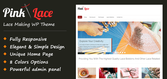Lace Making WordPress Theme