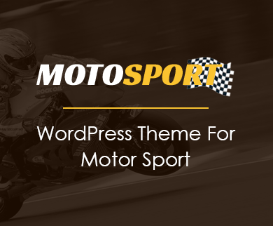 MotoSport - Motor Sports WordPress Theme