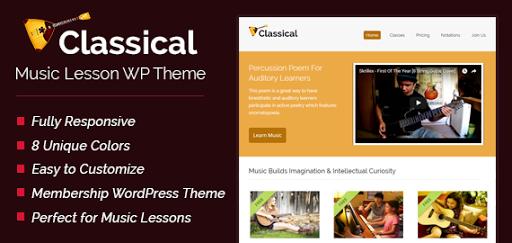 Music Lesson WordPress Theme
