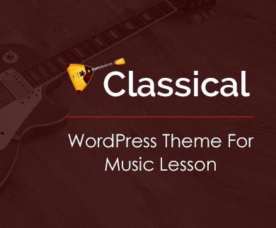 Classical - Music Lesson WordPress Theme