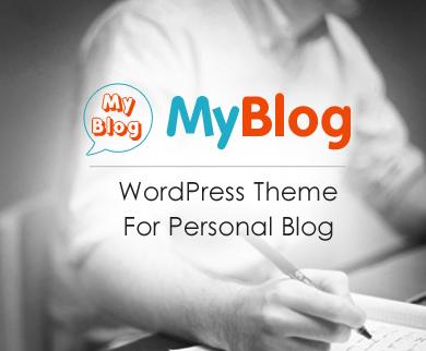 MyBlog - Personal Blogging & Magazine WordPress Theme