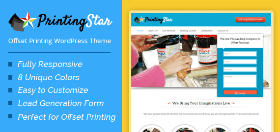 Offset Printing Company WordPress Theme