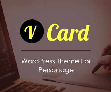 Vcard - Personage WordPress Theme