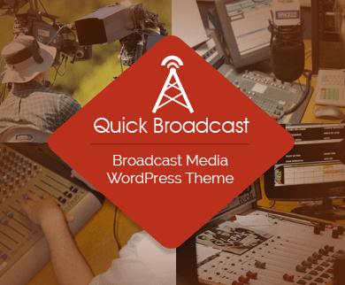 QuickBroadcast - Broadcast Media & Live News WordPress Theme