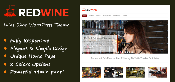 RedWine – Wine Shop WordPress Theme