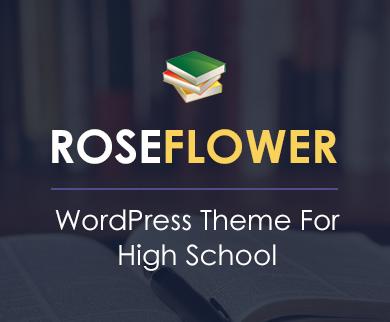 RoseFlower - High School WordPress Theme