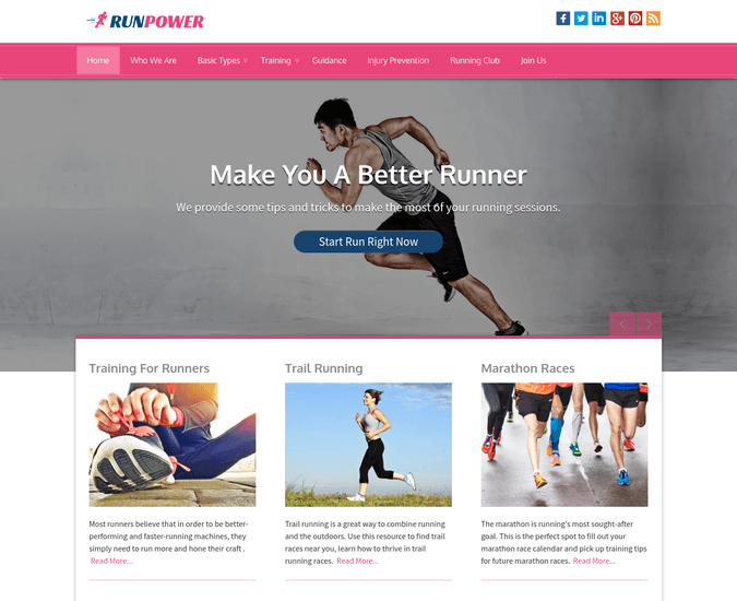 Run Power WP Theme