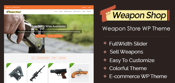 Weapons Store WordPress Theme