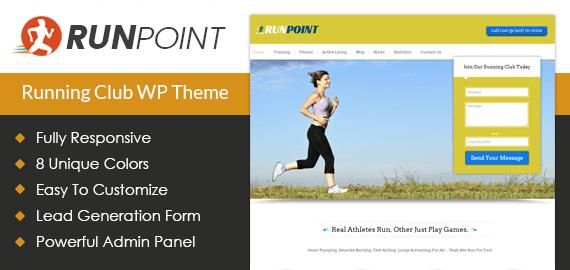 Running Club WordPress Theme
