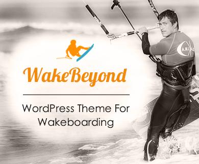 WakeBeyond - Wakeboarding WordPress Theme