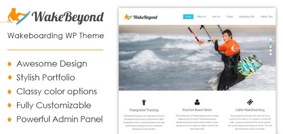 Wakeboarding WordPress Theme