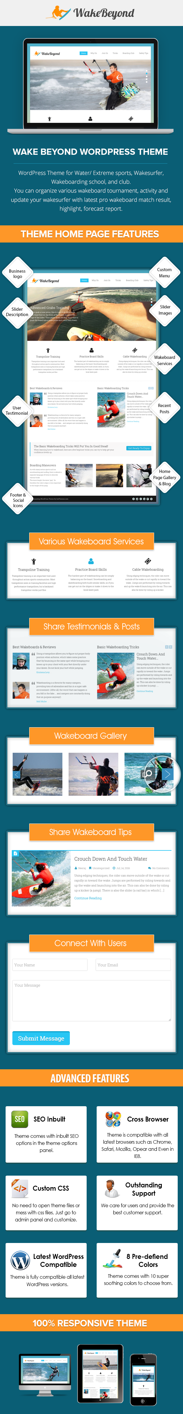 Wakeboarding WP Theme
