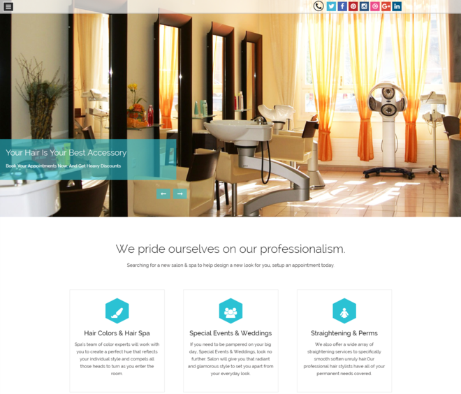 barbing salon wp theme