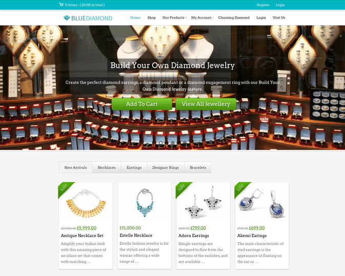 blue diamond wp theme