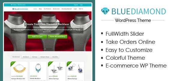 BlueDiamond – Diamond Shop Store WordPress Theme