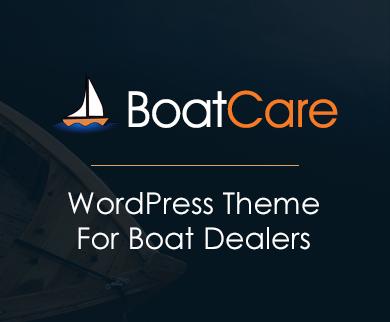 BoatCare - Boat Dealer WordPress Theme
