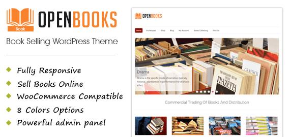 OpenBooks - Book Selling eCommerce WordPress Theme | InkThemes