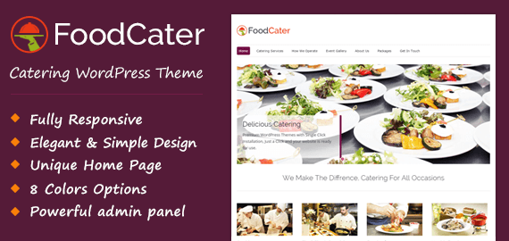 FoodCater – Food Catering Service WordPress Theme