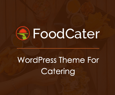 FoodCater - Food Catering Service WordPress Theme