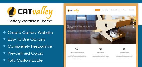 CatValley – Cattery WordPress Theme