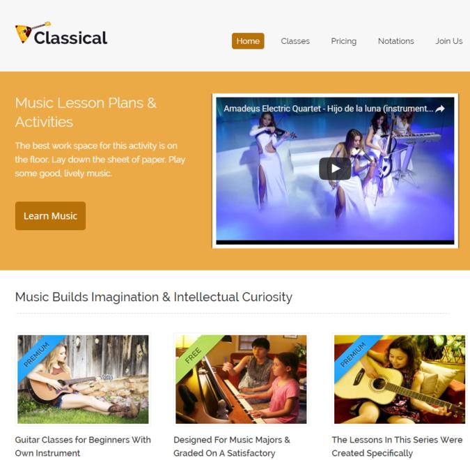 classical wp theme