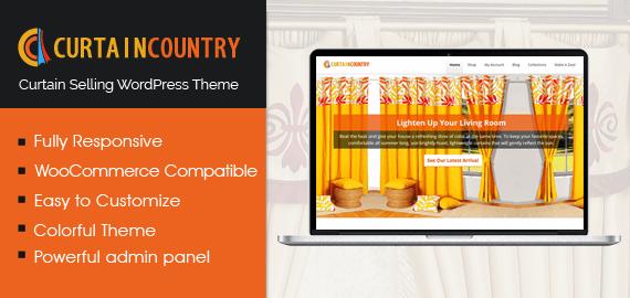 CurtainCountry - Curtain Selling WordPress Theme   InkThemes