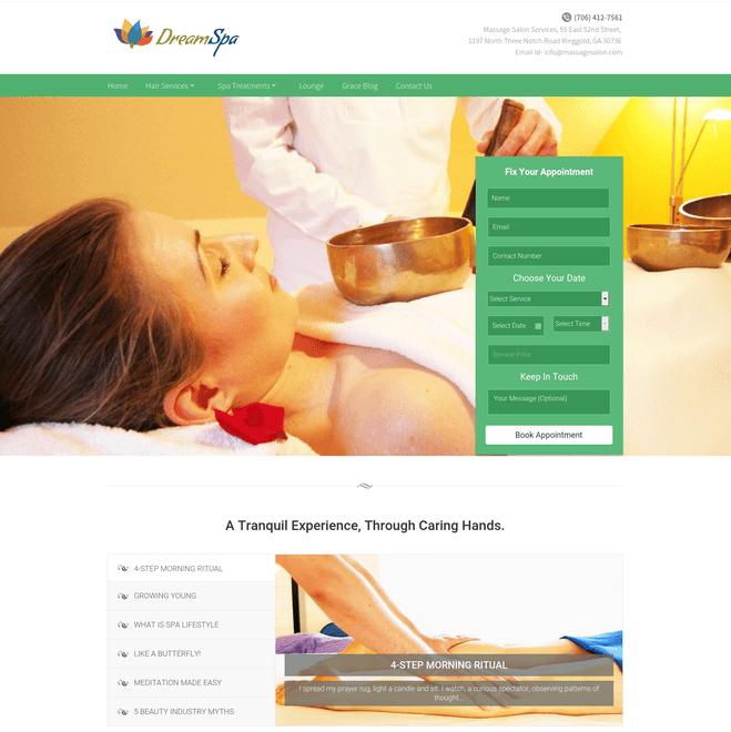 dream spa wp theme