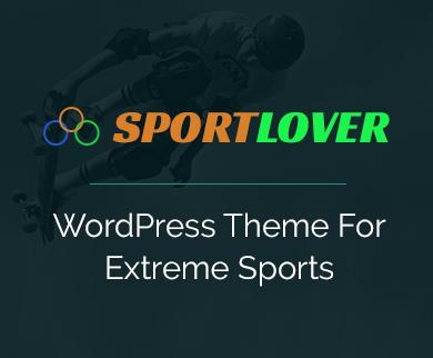SportLover - Extreme Sports WordPress Theme