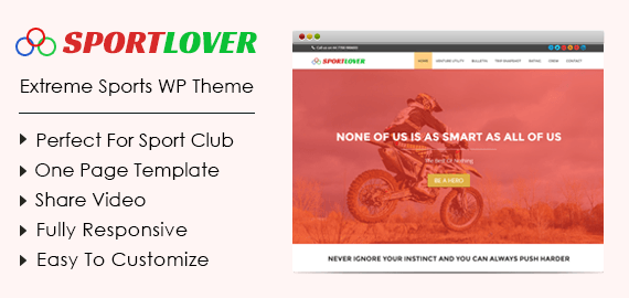 SportLover – Extreme Sports WordPress Theme