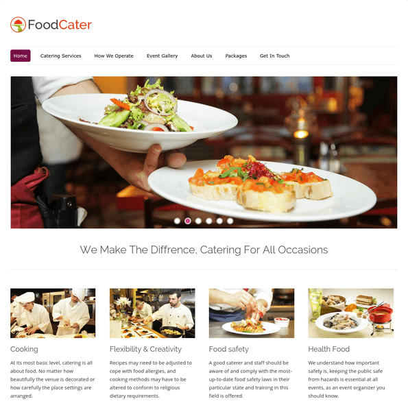 food cater wp theme