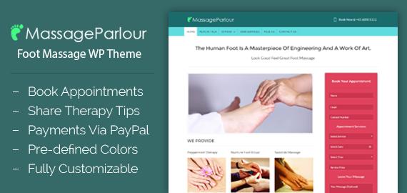 Foot Massage WordPress Theme