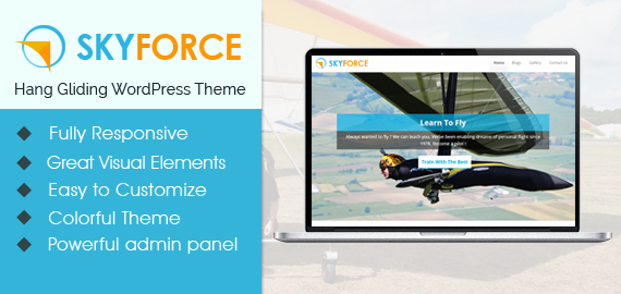 SkyForce – Hang Gliding WordPress Theme