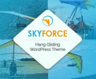 SkyForce - Hang Gliding WordPress Theme