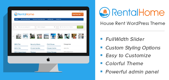 RentalHome – House Rent WordPress Theme For Brokers