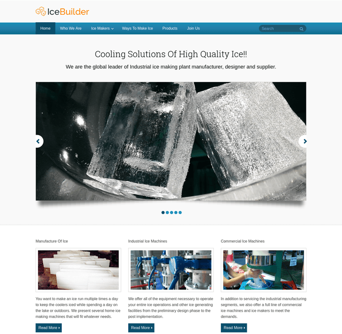 ice builder wp theme