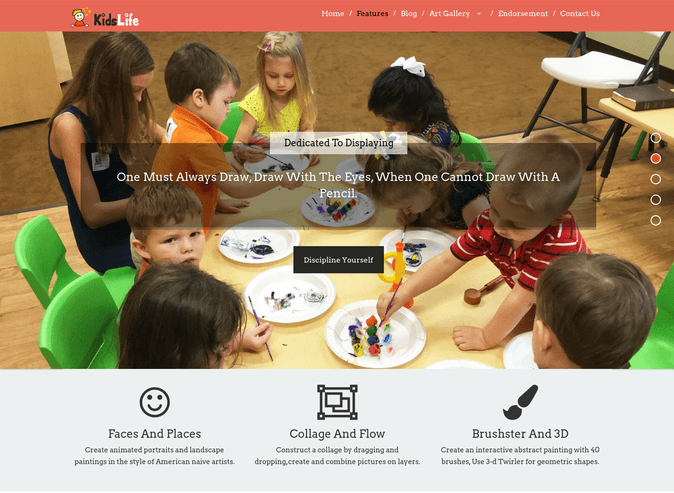 kids life wp theme