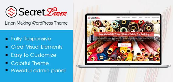 SecretLinen – Linen Making WordPress Theme