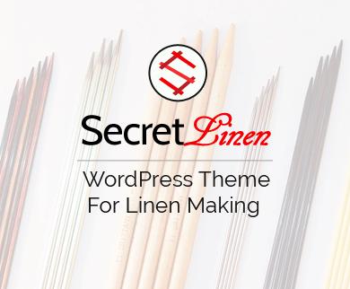 SecretLinen - Linen Making WordPress Theme